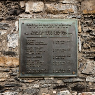 Kilmainham Gaol: Plaque to executed Leaders of 1916