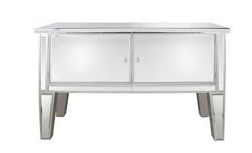 2 DOOR MIRRORED SIDEBOARD CABINET