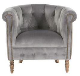 Alexander & James Jude Plush Velvet Armchair