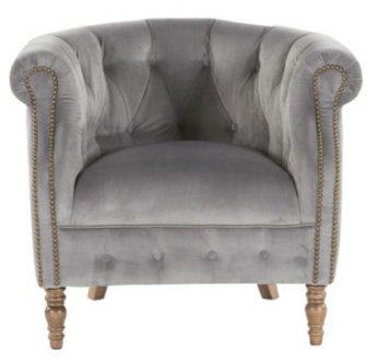 Alexander & James Jude Plush Velvet Armchair
