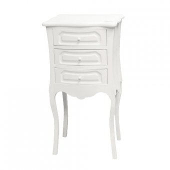 Belgravia French Bedside Cabinet - White
