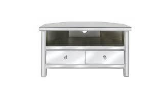 CLASSIC MIRRORED TV AUDIO MEDIA CORNER UNIT