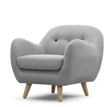 Scandinavian Design Retro Curved Chair