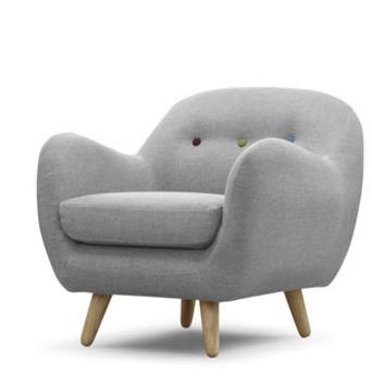 Scandinavian Design Retro Curved Chair